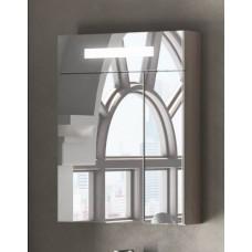 Зеркальный шкаф Smile Стайл 60 белый/дуб орегон