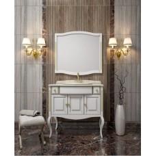 Мебель для ванной комнаты Opadiris Лаура Белая с мрамором
