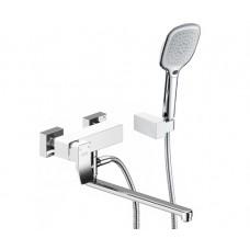 Смеситель белый для ванны с длинным изливом Wasserkraft Aller 1062LWHITE