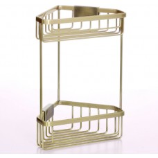 Полка для ванной комнаты угловая бронзовая Sanartec 171210