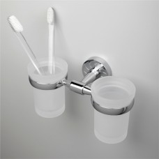 Стакан для зубных щёток настенный двойной WasserKRAFT Isen К-4028D