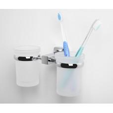 Стакан для зубных щеток двойной WasserKRAFT Lippe К-6528D