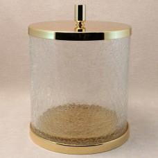 Корзина для мусора с крышкой кракле Windisch Addition Craquele Gold 89165O золото