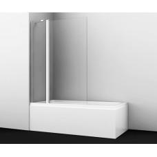 Стеклянная шторка для ванны распашная двухстворчатая Wasserkraft Berkel 48P02-110 (110х1400)
