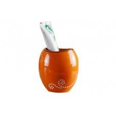 Стакан для зубной пасты Maison D-15373 оранжевый