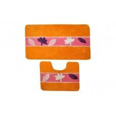 Коврик для ванной и туалета Stanley D-18230 оранжевый