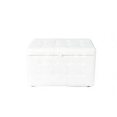 Банкетка с ящиком 03К-БН Stiven 3 белая (60х40)