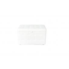 Банкетка узкая 11 К-БН Stiven 3 белая (30х60х40)