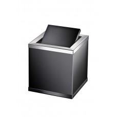 Корзина для мусора настольная Windisсh Black 89702NCR черная, хром