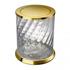 Корзина для мусора с вращающейся крышкой Windisch Spiral 89805O золото