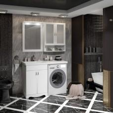 Мебель для ванной под стиральную машину Комплект Клио 56 белый матовый