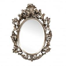 Зеркало в раме овал LouvreHome Овьедо серебро LH205S