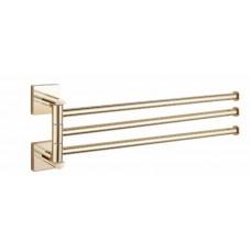 Полотенцедержатель тройной поворотный золото GUS 751710