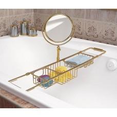 Полочка для ванны раздвижная с зеркалом Windisсh 85115O золото