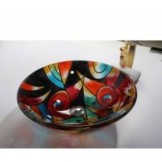Раковина на столешницу из цветного стекла Bronze De Luxe 10087