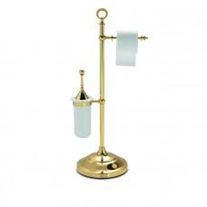 Стойка для ерша и туалетной бумаги Tiffany World TWSIG52OR золото