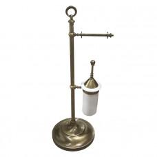 Стойка с ершиком и держателем туалетной бумаги Tiffany World TWSIG52BR бронза