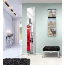 Шкаф поворотный с принтом на зеркале Лупо Шелф Арт (30х177)