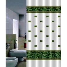 Шторка для ванной Zumrut DR-50013 зеленая