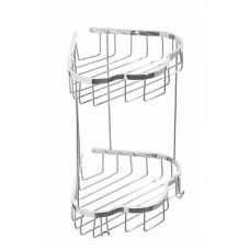 Полка для ванной угловая двойная Cameya H1416-2 хром