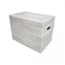 Ящик для хранения из ротанга малый LA-51W/2 белый