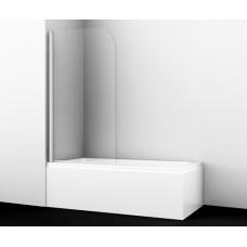 Стеклянная шторка для ванны распашная Wasserkraft Leine 35P01-80 (1400х800)