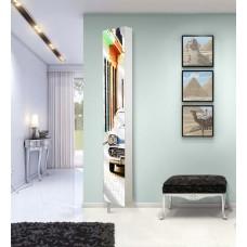 Шкаф поворотный зеркальный с принтом Lupo Art (30х177)