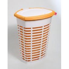 Корзина для белья пластиковая оранжевая Primanova PALM M-E44-01-08