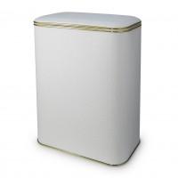 Корзина для белья Cameya PWG-B белая/золото