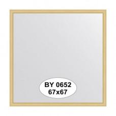 Зеркало в багетной раме BY 0652 сосна 67х67
