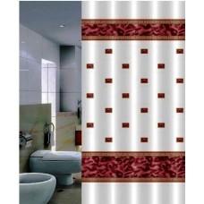 Штора для ванной 180*200 см. PRIMANOVA DR-50015 Zumrut (розовый)