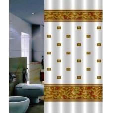 Штора для ванной 180*200 см. PRIMANOVA DR-50016 Zumrut (бежевый)